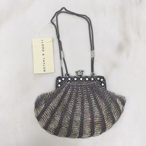 NWT Vintage silvertone party purse